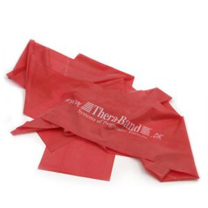 Fitness elastik i rød